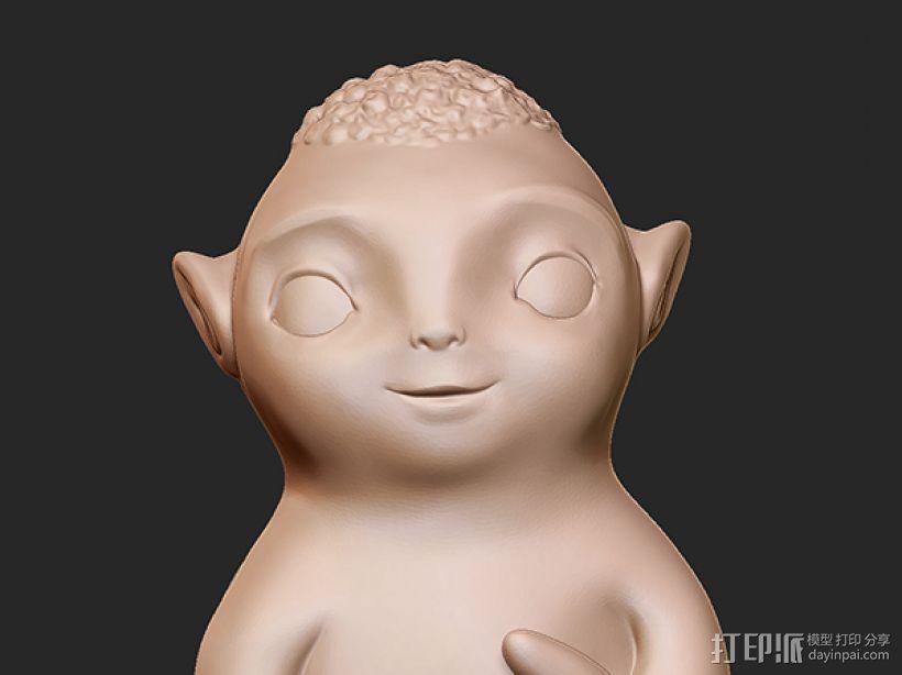 捉妖记之胡巴 3D模型  图3