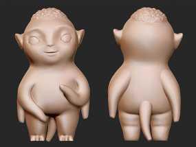 捉妖记之胡巴 3D模型