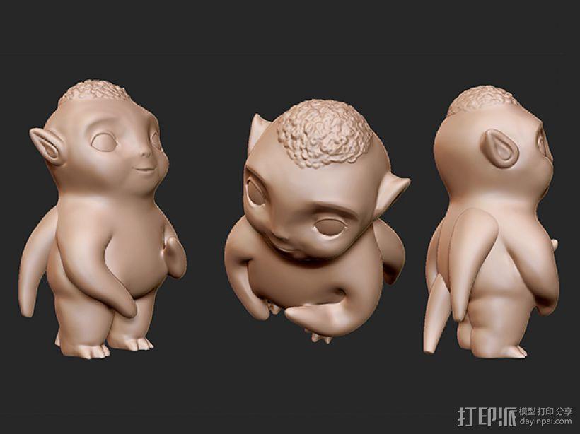 捉妖记之胡巴 3D模型  图2
