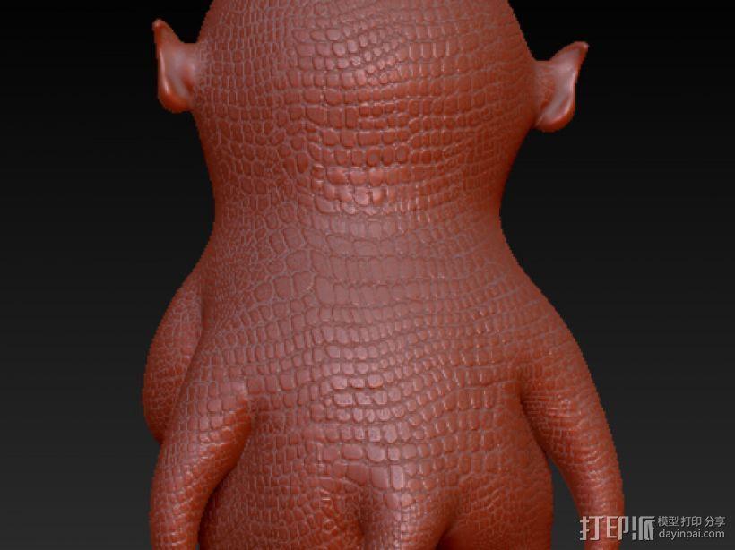 精细的胡巴 3D模型  图3