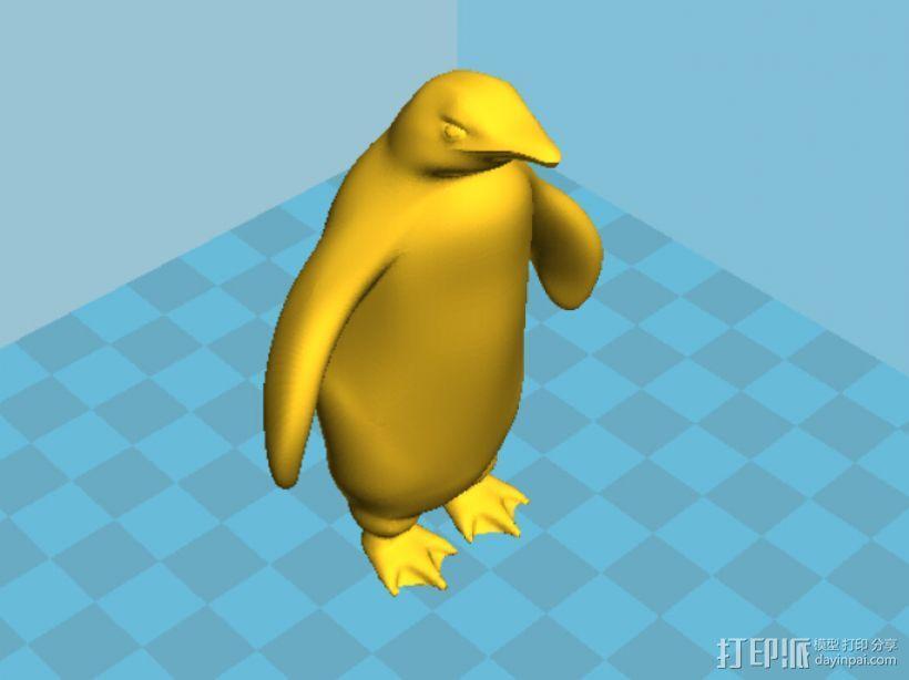 企鹅 3D模型  图1