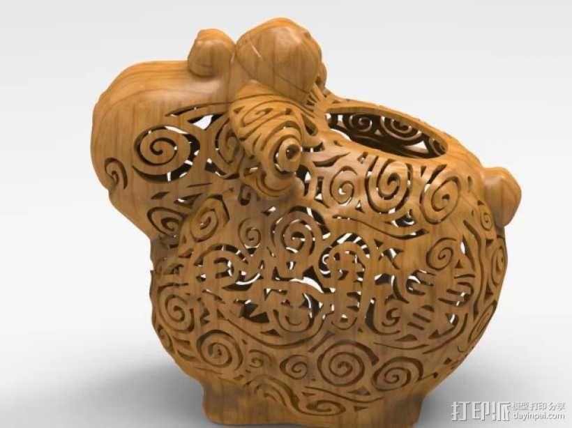 新年祈福羊创意摆件 3D模型  图1