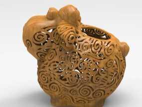 新年祈福羊创意摆件 3D模型