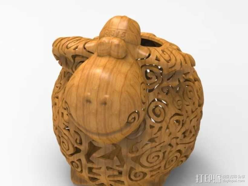 新年祈福羊创意摆件 3D模型  图2