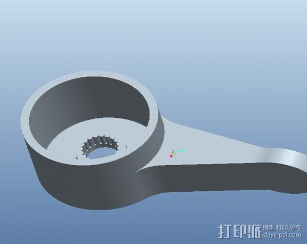水龙头扳手 3D模型  图2