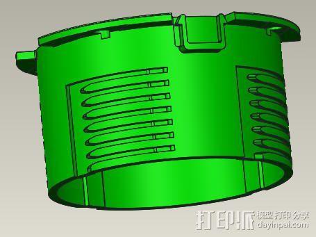 电脑风扇导风筒 3D模型  图1