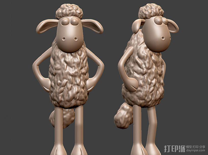 小羊肖恩 3D模型  图1