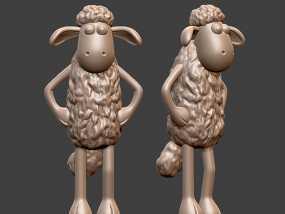 小羊肖恩 3D模型