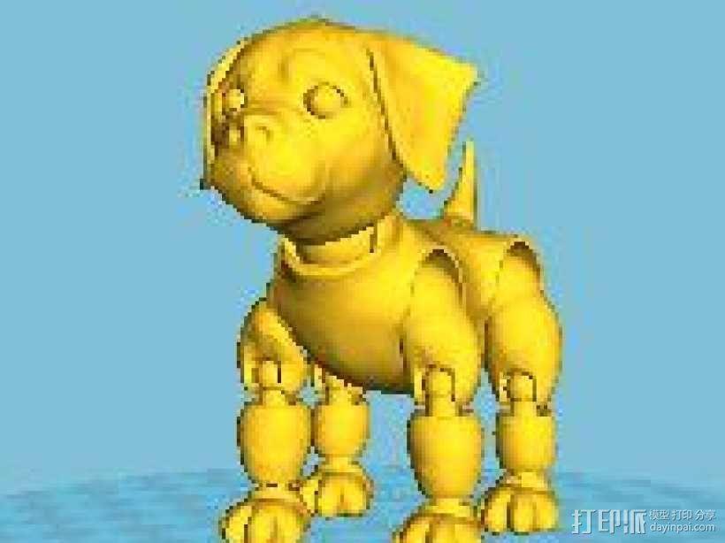 小狗 3D模型  图1