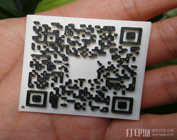 3d打印二维码名片,将二维码装入口袋 3D模型  图2