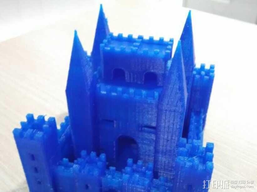 PLA材质,打印机试打中世纪欧洲城堡 3D打印制作  图4