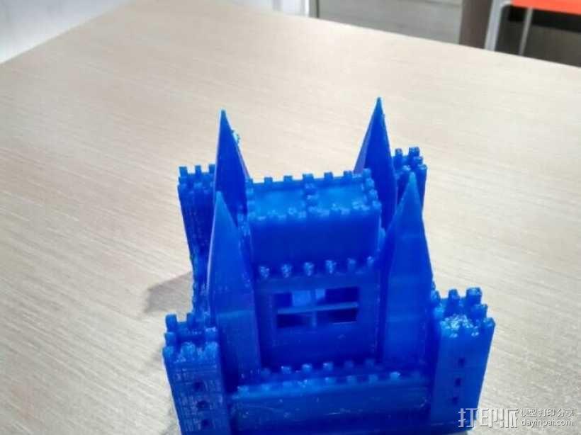 PLA材质,打印机试打中世纪欧洲城堡 3D打印制作  图3