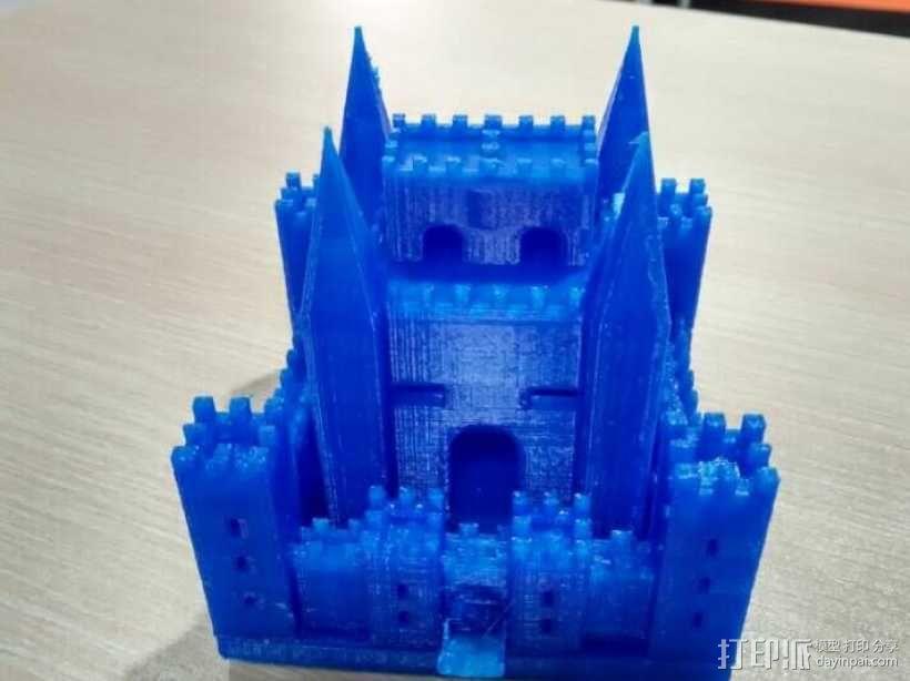 PLA材质,打印机试打中世纪欧洲城堡 3D打印制作  图1