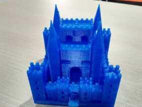 PLA材质,打印机试打中世纪欧洲城堡 3D打印制作