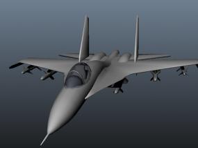 苏-27战机 3D模型