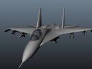 苏-27战机 3D模型 图1