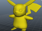皮卡丘-神奇宝贝-口袋妖怪 3D模型 图1