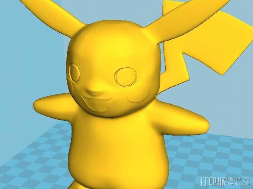皮卡丘-神奇宝贝-口袋妖怪 3D模型  图3