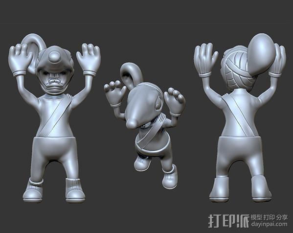 黑猫警长之翡翠之星——一只耳 3D模型  图2