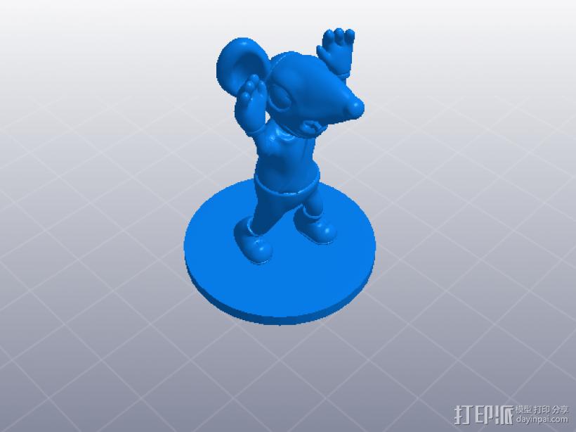 黑猫警长之翡翠之星——一只耳 3D模型  图5