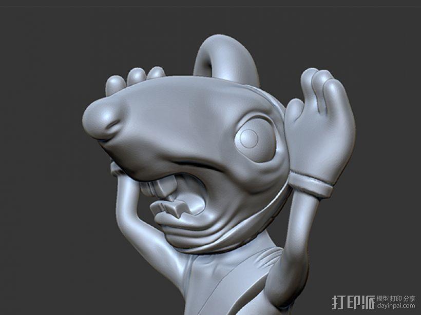 黑猫警长之翡翠之星——一只耳 3D模型  图3