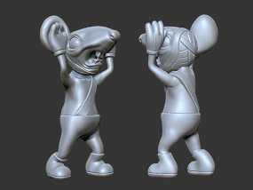 黑猫警长之翡翠之星——一只耳 3D模型