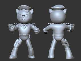 黑猫警长之翡翠之星——黑猫警长 3D模型