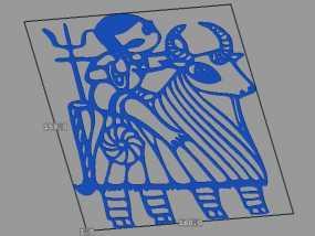 立体剪纸_十二生肖_牛 3D模型