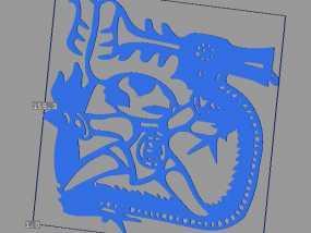 立体剪纸_十二生肖_龙 3D模型
