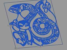 立体剪纸_十二生肖_蛇 3D模型