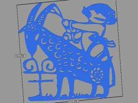 立体剪纸_十二生肖_羊 3D模型