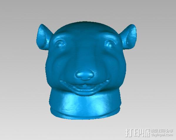十二兽首-鼠 3D模型  图1