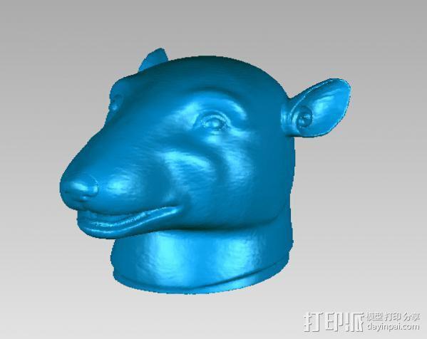 十二兽首-鼠 3D模型  图2