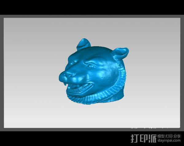 十二兽首-虎 3D模型  图2