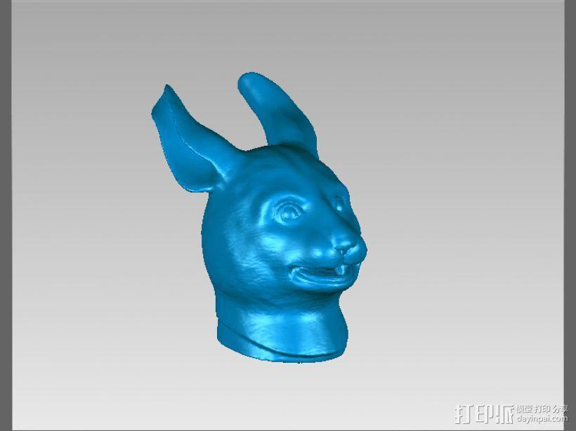 十二兽首-兔 3D模型  图1