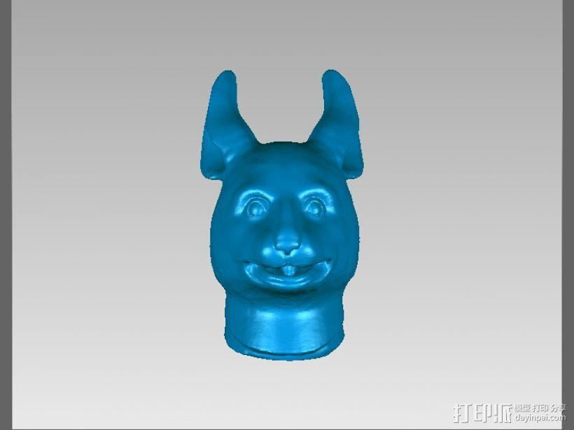 十二兽首-兔 3D模型  图2