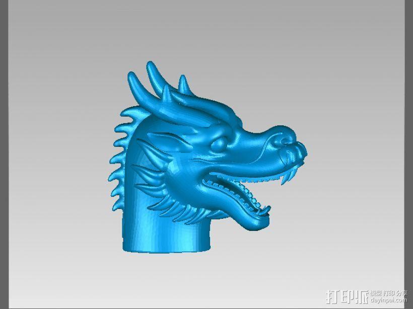 十二兽首-龙 3D模型  图2