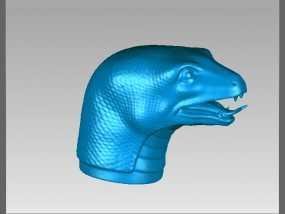 十二兽首-蛇 3D模型