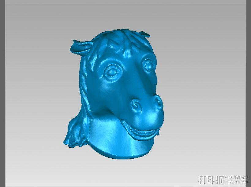 十二兽首-马 3D模型  图2
