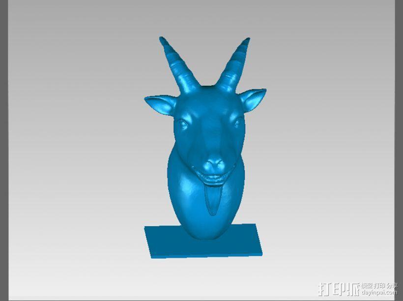 十二兽首-羊 3D模型  图2