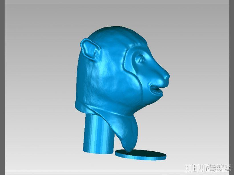 十二兽首-猴 3D模型  图2