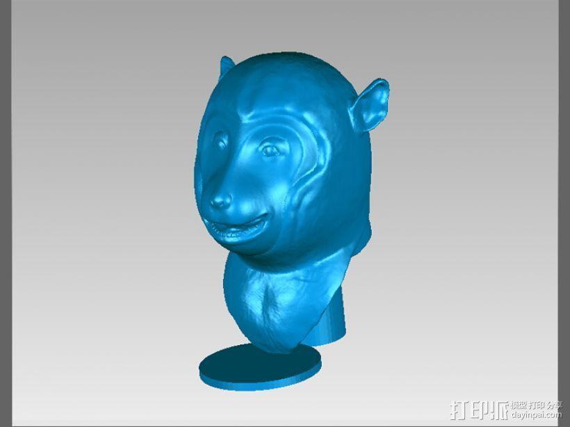 十二兽首-猴 3D模型  图1
