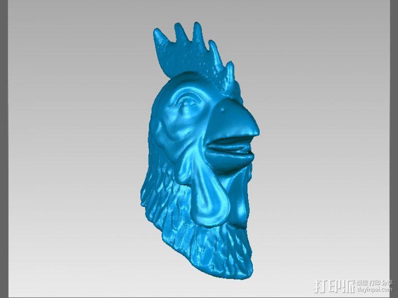 十二兽首-鸡 3D模型  图1