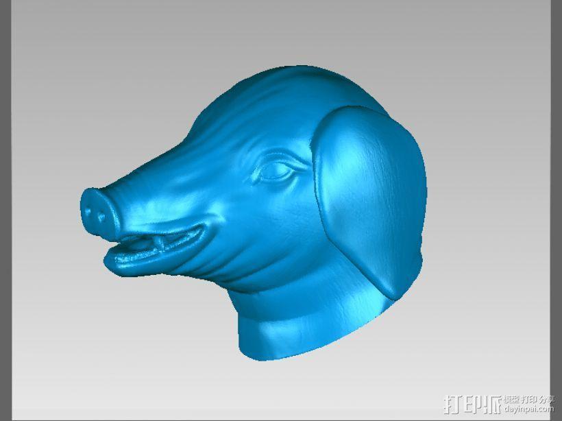 十二兽首-猪 3D模型  图1