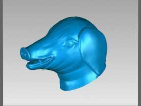 十二兽首-猪 3D模型