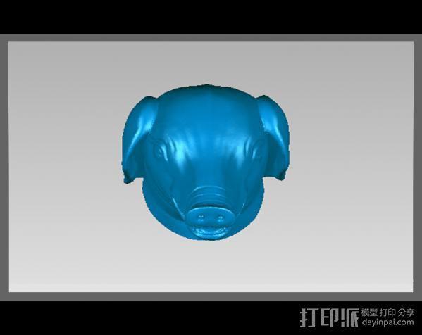 十二兽首-猪 3D模型  图2