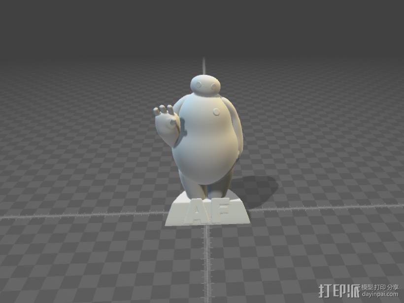 Baymax大白3D打印STL模型 3D模型  图2