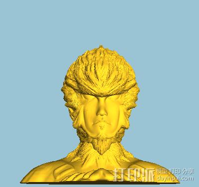 大圣头像 3D模型  图2