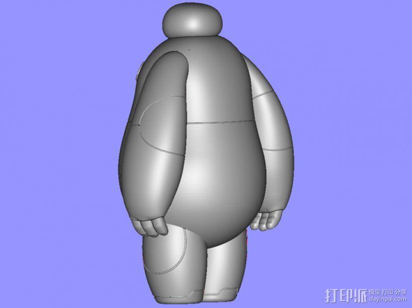 超能陆战队baymax小白 3D模型  图3
