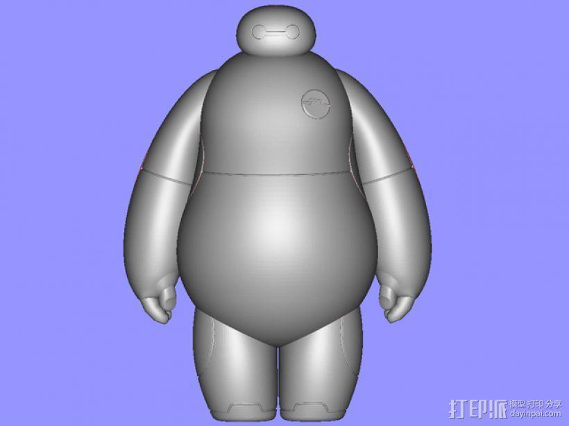 超能陆战队baymax小白 3D模型  图2